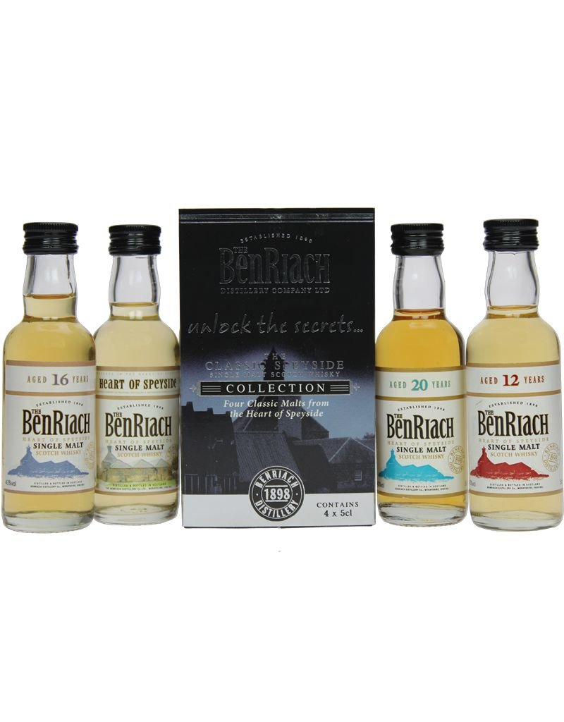 BenRiach BenRiach Collection Classic Speyside Miniatures 4x50ml Gift Box