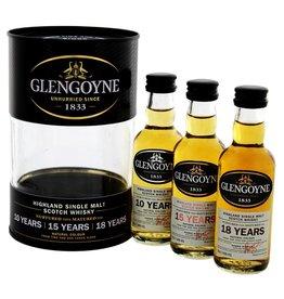 Glengoyne Malt Whisky Tin Box  10YO 15 Years Old 18 Years Old  Miniatures 3x50ml
