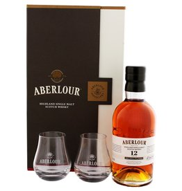 Aberlour 12 Years Old UN-Chillfiltered 700ml + 2 Glasses Gift Box