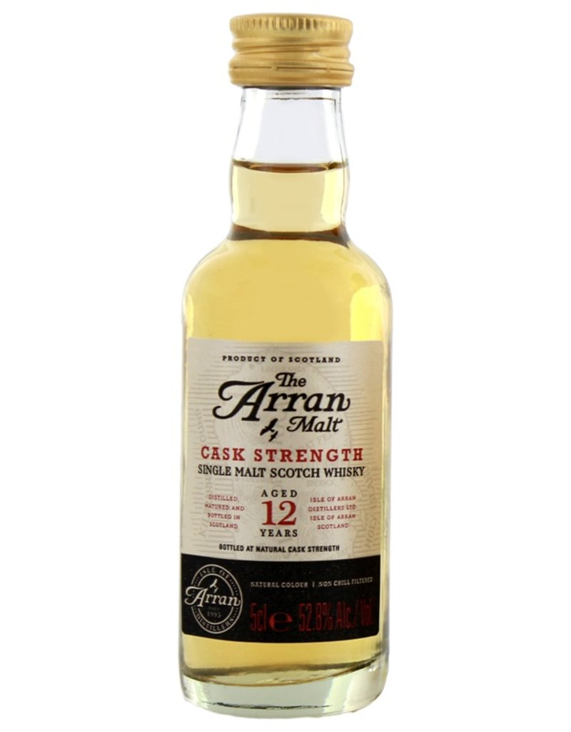 Arran 12 Years Old Cask Strength Malt Whisky Miniatures 50ml