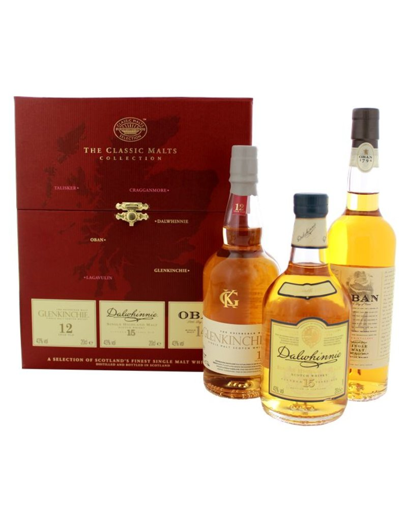 The Classic Malts Collection Gentle 3x200ml Gift Box