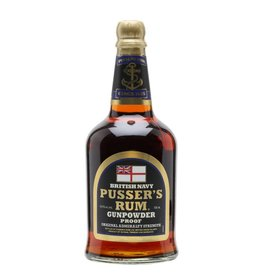 Pussers British Navy Rum Black Label Gunpowder Proof 70cl