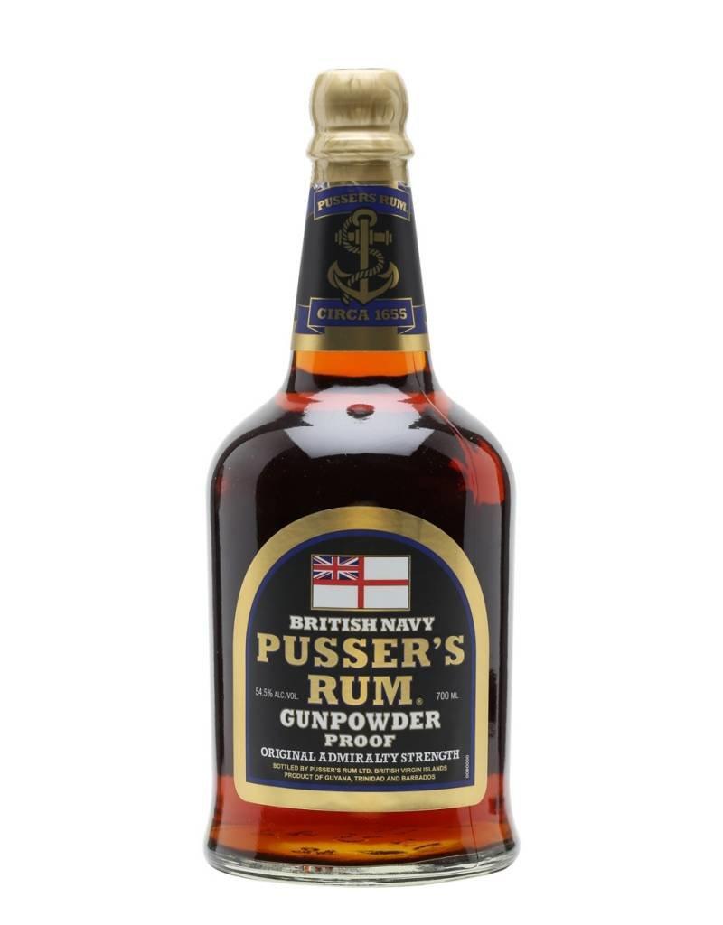 Pussers British Navy Rum Black Label Gunpowder Proof 70cl
