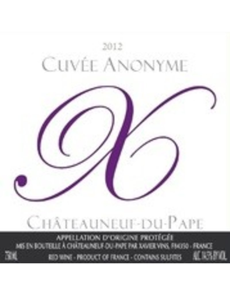 2011 Chateauneuf du Pape Cuvee Anonyme Rouge Xavier Vins 75cl