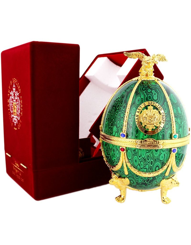 Imperial Collection Vodka Faberge Egg 700ml Green Gift box