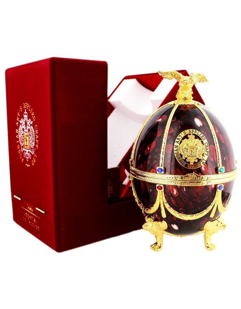 Imperial Collection Vodka Faberge Ei 700ml Bordeaux Rot Gift box