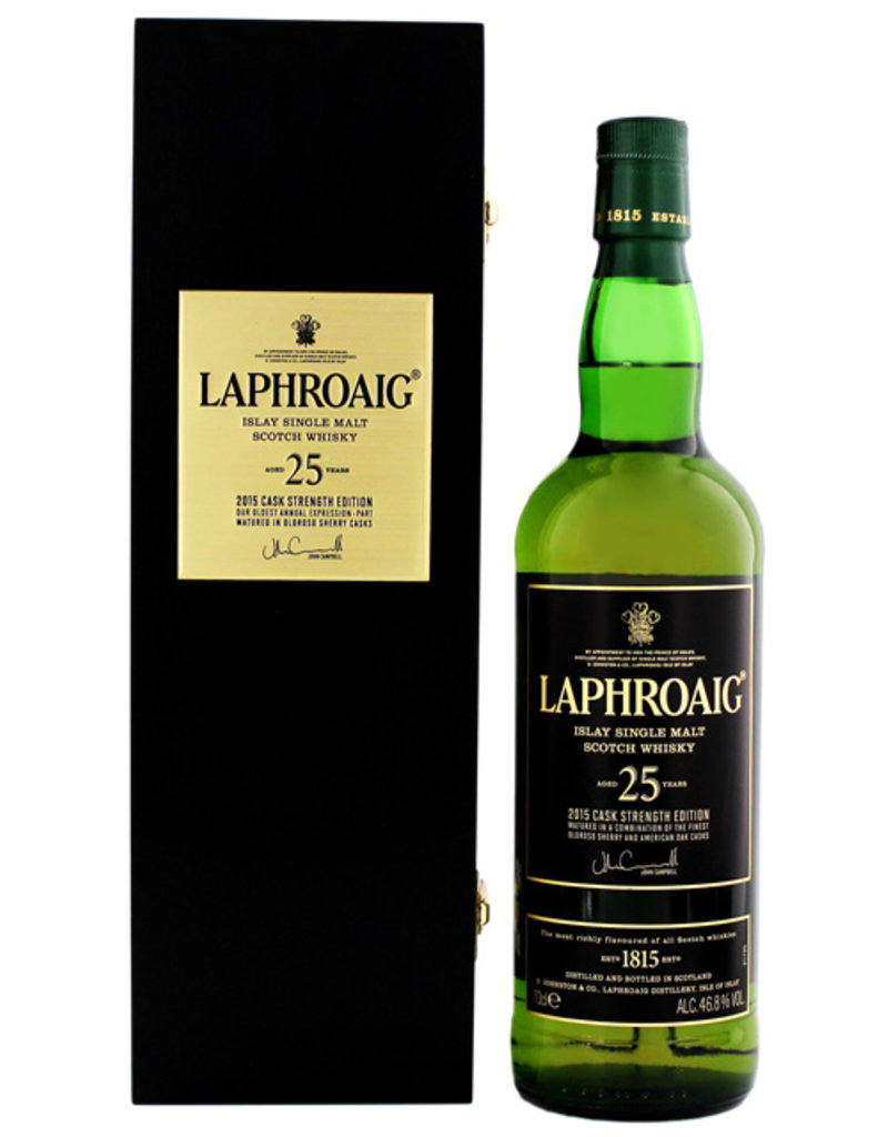 Laphroaig Laphroaig 25 years old Cask Strength single malt Whisky