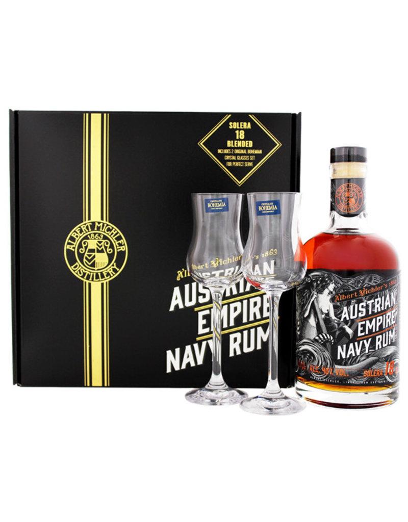Austrian Empire Navy Rum Solera 18YO 0,7L + 2 Gläser Gift Box
