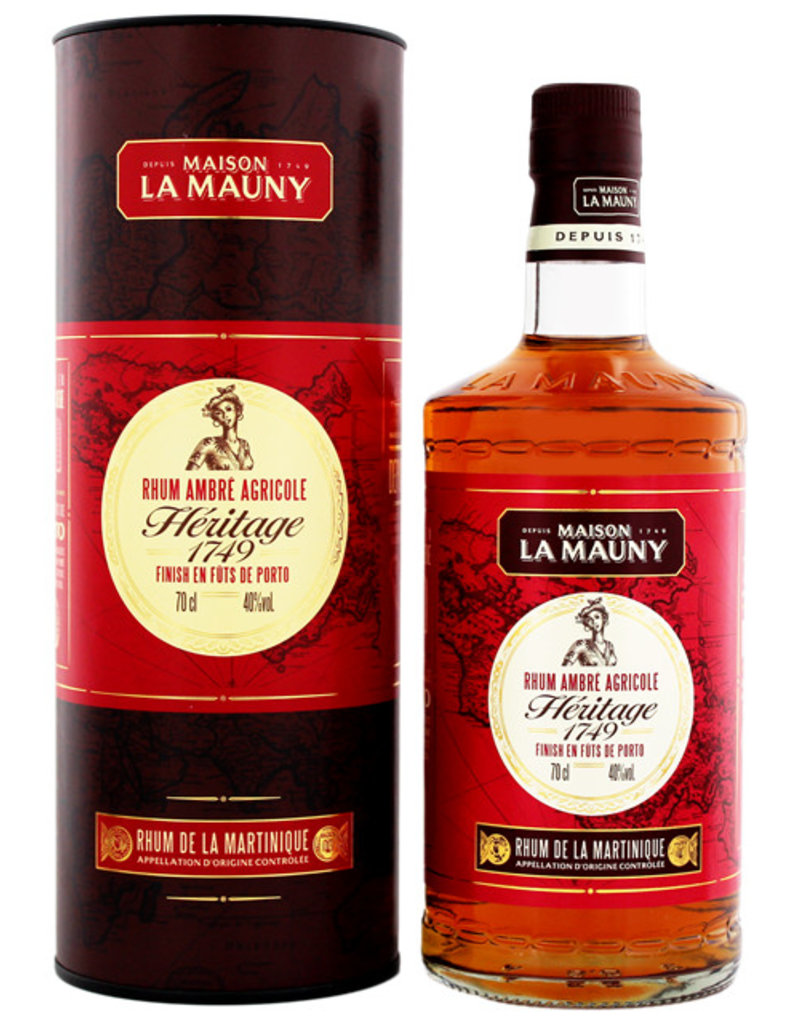 La Mauny La Mauny Ambre Heritage 1749 0,7L Gift Box