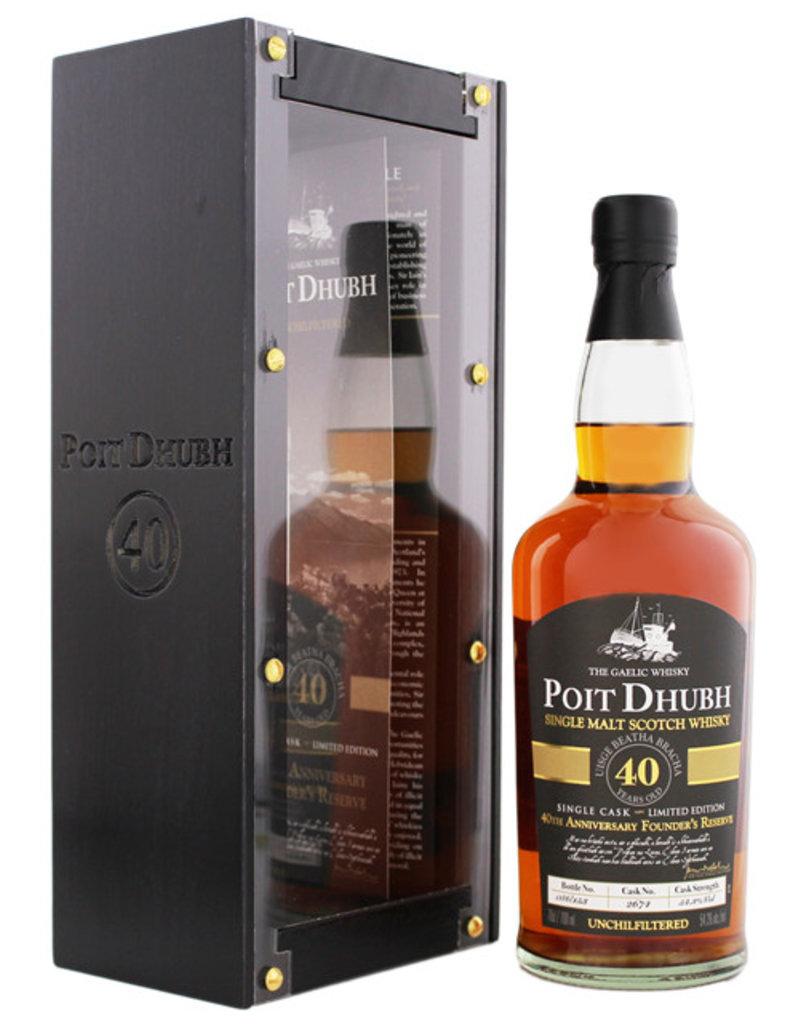Poit Dhubh 40YO Malt Whisky 0,7L Gift Box