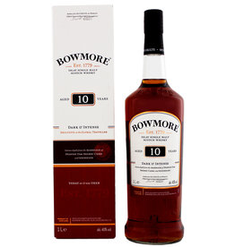 Bowmore Bowmore 10YO Dark & Intense Malt Whisky 1,0L Gift Box