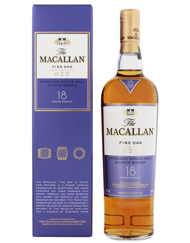 Macallan Macallan Fine Oak 18YO 0,7L Gift Box