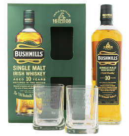 Bushmills Bushmills 10YO Malt Whiskey 0,7L + 2 glasses  Gift Box