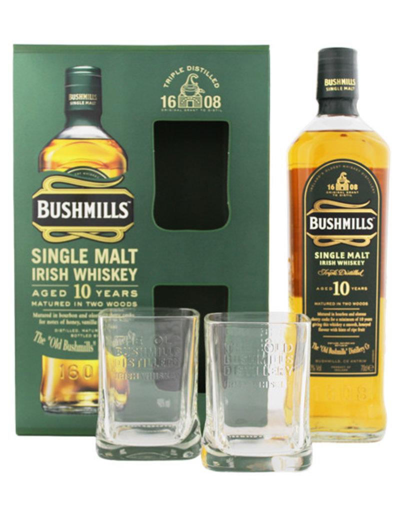 Bushmills Bushmills 10YO Malt Whiskey 0,7L + 2 glasses  Gift Box