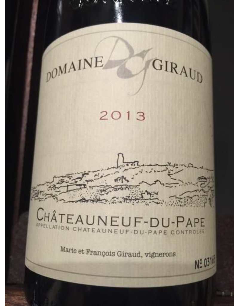Domaine Giraud 2013 Domaine Giraud Chateauneuf du Pape Grenache Blend