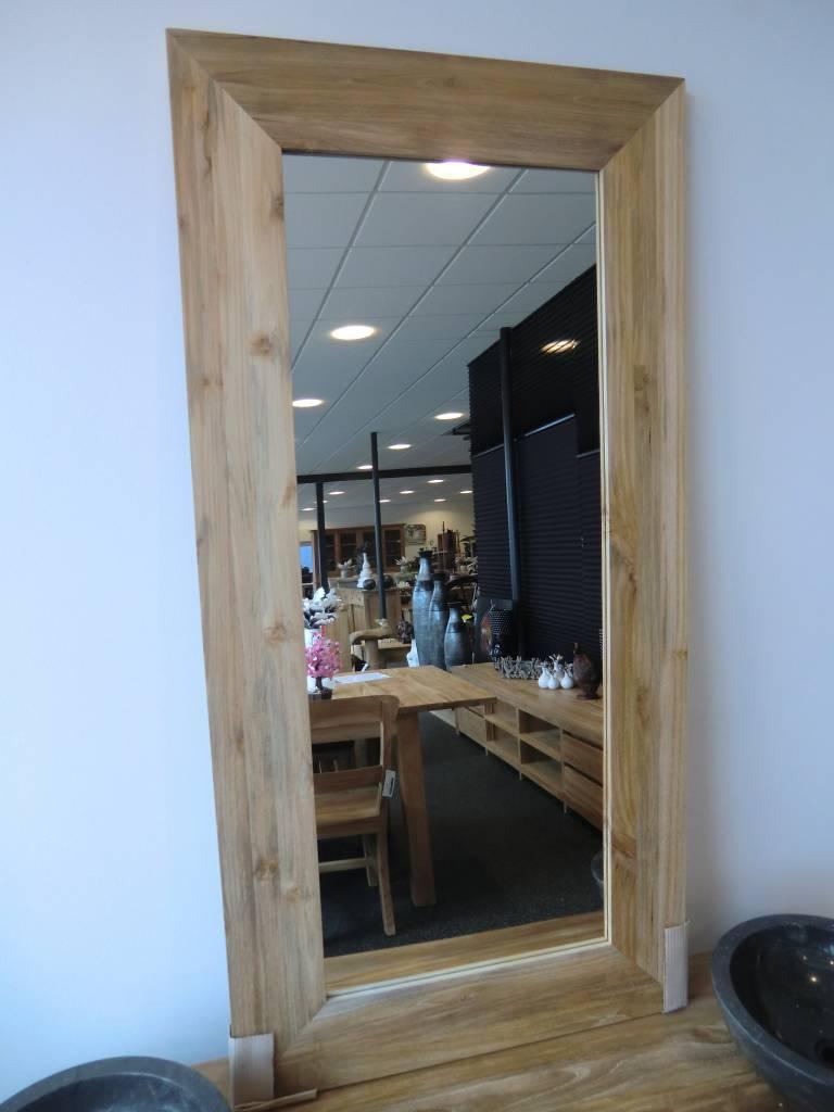 Spiegel teak decomeubel for Fenster 80 x 80