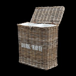 Decomeubel Rattan laundry basket