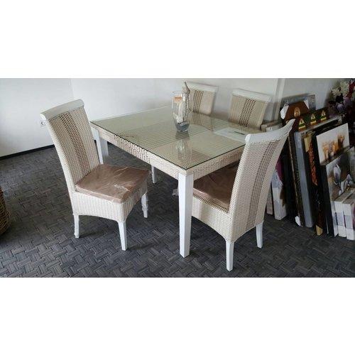 Tafel met 4 stoelen decomeubel - Kitchenette met stoelen ...