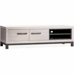 Lamulux TV cabinet Next 2 doors, 2 open compartments