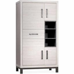Lamulux Kabinett Next 4 Türen, 1 Schublade, 3 offene Fächer