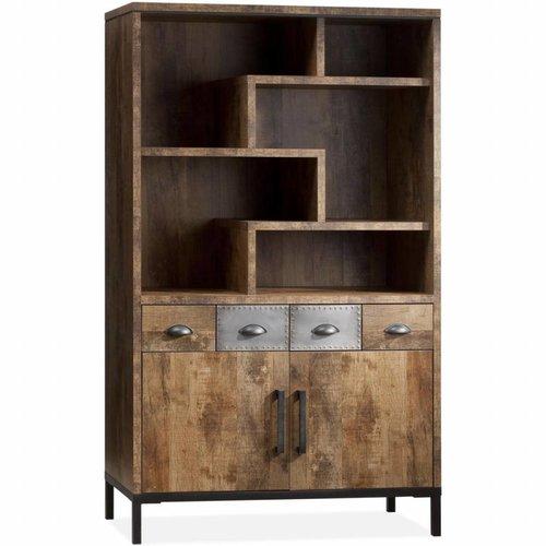 lamulux express bar schrank 2 t ren 2 schubladen offene f cher 5 decomeubel. Black Bedroom Furniture Sets. Home Design Ideas