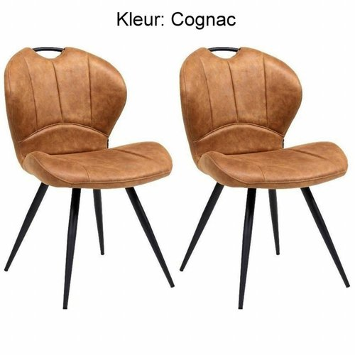 Maxfurn Dining chair Miracle color: Cognac