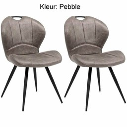 Maxfurn Dining chair Miracle color: Pebble