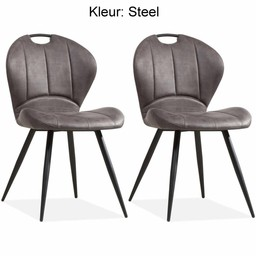 Dining chair Miracle color: Steel