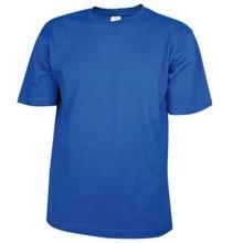 ♣ 100% katoenen T-shirts in de kleur koningsblauw (kobaltblauw)