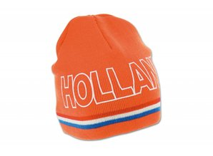 Funny Holland collectie 2018 │ Gebreide WK 2014 oranje mutsen (Beanie) met tekst HOLLAND kopen?