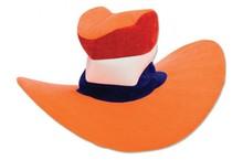Funny Holland collectie 2017 │ Oranje Jumbo hoeden in de kleuren oranje, rood, wit en blauw