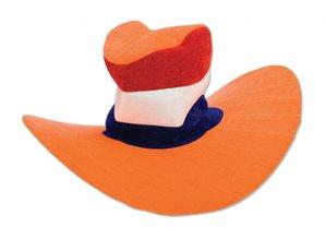 Funny Holland collectie 2018 │ Oranje Jumbo hoeden in oranje, rood, wit en blauw