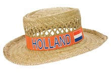 Funny Holland collectie 2017 │ Goedkope oranje Strohoeden met de tekst Holland