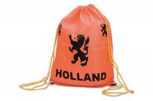 Funny Holland collectie 2018 │ Oranje rugzakje met de tekst Holland en de Hollandse Leeuw (afmeting 34 x 45 cm)