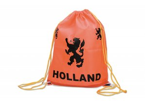 Funny Holland collectie 2017 │ Oranje rugzakje met de tekst Holland en de Hollandse Leeuw!