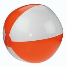 Funny Holland collectie 2018 │ Opblaasbare oranje-witte strandballen (doorsnede 20 inch) middelgroot