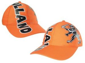 Funny Holland collectie 2017 │ Oranje Baseballcaps met opdruk tekst Holland en Hollandse Leeuw