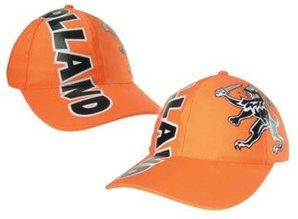 Funny Holland collectie 2018 │ Oranje Baseballcaps met opdruk tekst Holland en Hollandse Leeuw