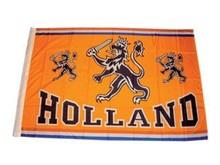 Funny Holland collectie 2018 │ Oranje Holland vlaggen met de tekst HOLLAND en de Hollandse leeuw (afmeting 70 x 100 cm)