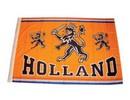 Funny Holland collectie 2017 │ Oranje Holland vlaggen met de tekst HOLLAND en de Hollandse leeuw (afmeting 100 x 150 cm)