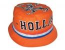 Funny Holland collectie 2018 │ Goedkope oranje Holland Bob hoeden (voorzien van een band in de kleuren rood, wit en blauw)