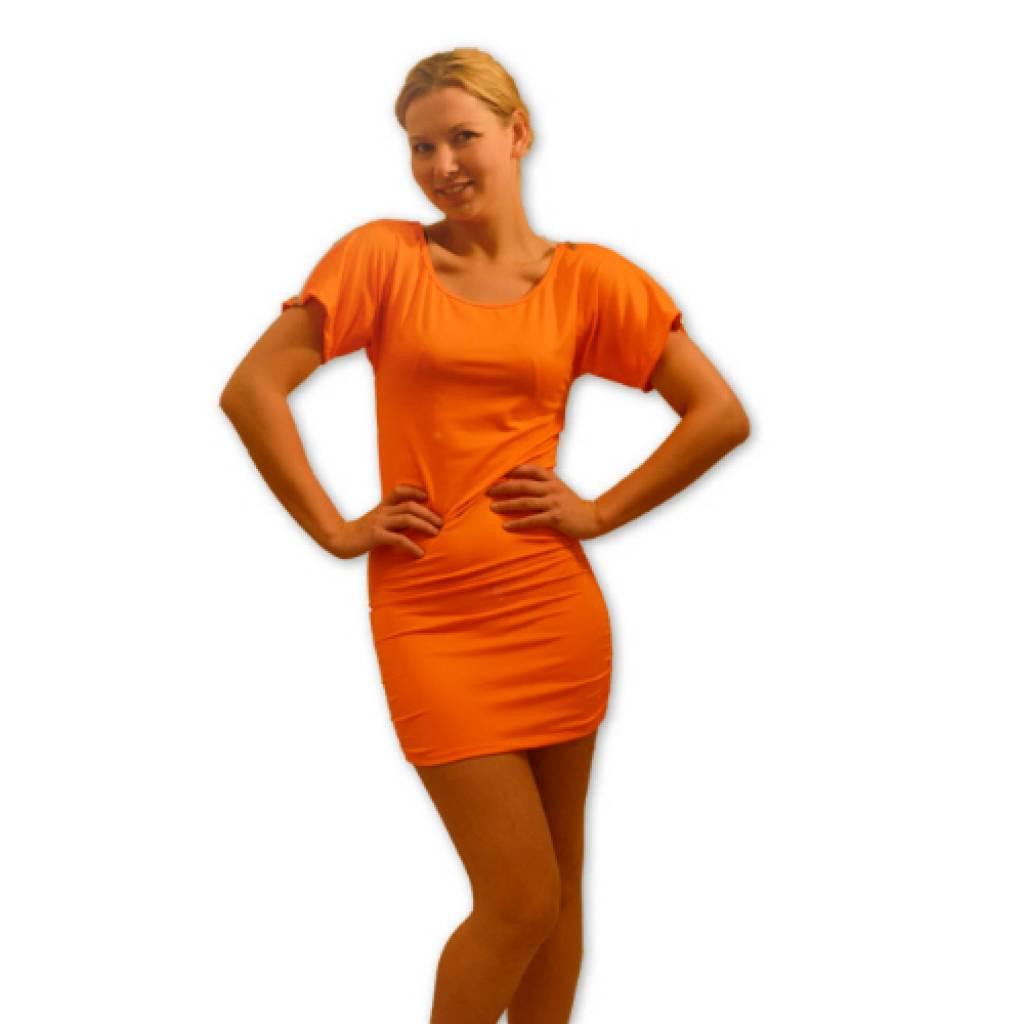 goedkope oranje jurken