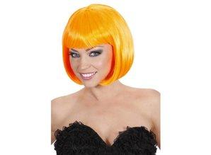 Funny Holland collectie 2018 │ Hier kunt u een mooie bob line Pruik kopen met oranje haar!