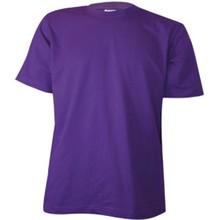 ♣ Goedkope paarse T-shirts met korte mouw en ronde hals (100% katoen)