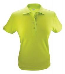 ♣ Dames Poloshirts (polo pique) in de kleur lichtgroen (maten S t/m XXL)
