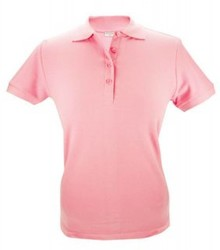 ♣ Dames Poloshirts in de kleur roze (verkrijgbaar in de maten S, M, L, XL en XXL)