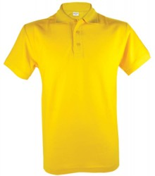 ♣ Goedkope gele heren Poloshirts kopen? Poloshirts in de kleur geel (polo pique, 100% katoen)