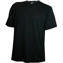 ♣ Goedkope zwarte kinder T-shirts kopen? Zwarte kinder T-shirts (voorzien van een ronde hals en korte mouw, 100% katoen)