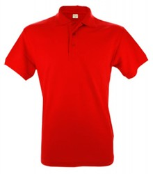 ♣ 100% katoenen heren Poloshirts (polo pique) in de kleur rood