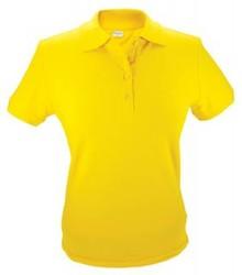 ♣ 100% katoenen dames Poloshirts in de kleur geel
